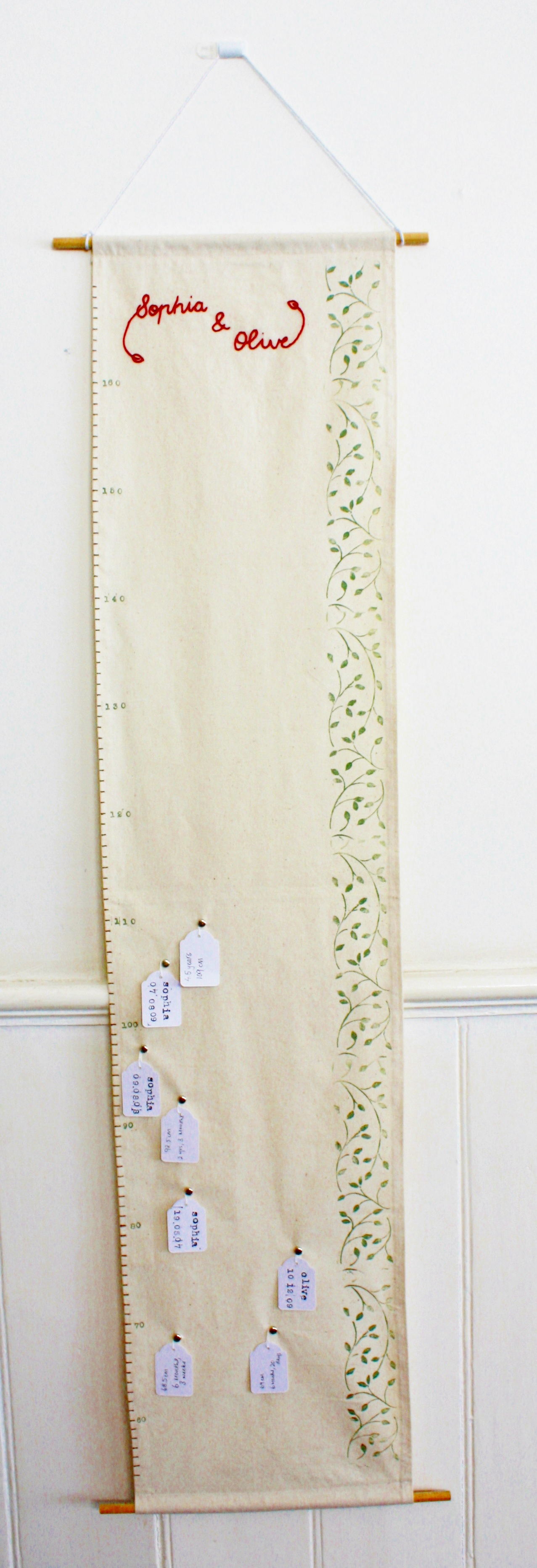 fabric growth chart a tutorial