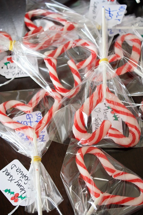 Christmas candy cane lollipps