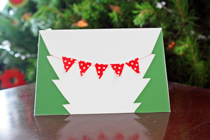 Christmas Card - bunting