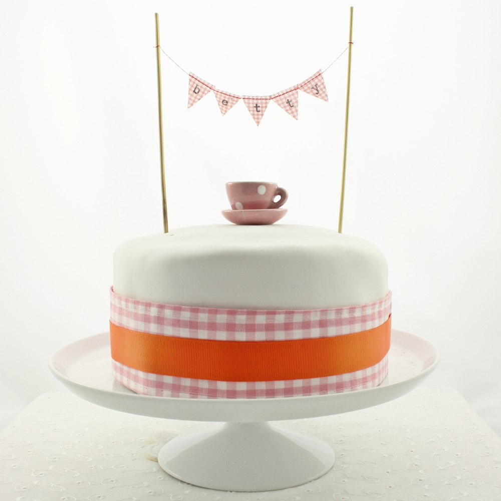 twirling betty cake bunting and banners