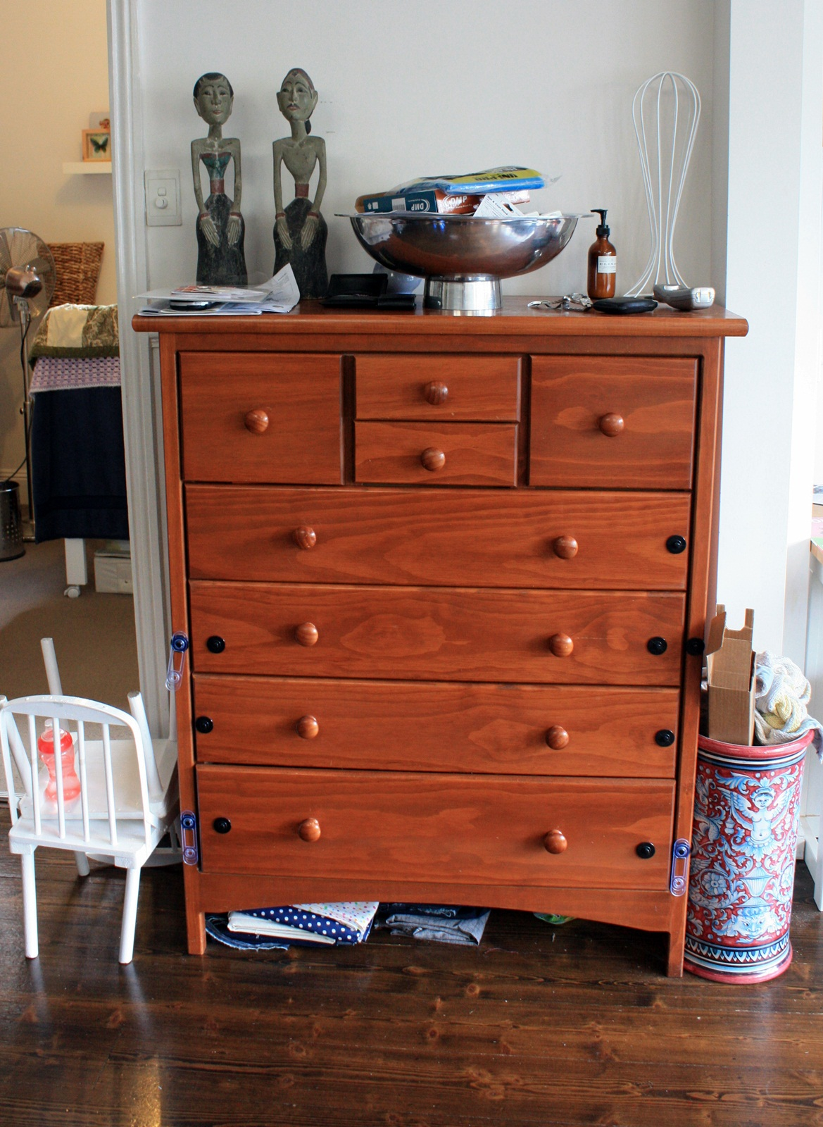 Living Room Chest Of Drawers : before and after