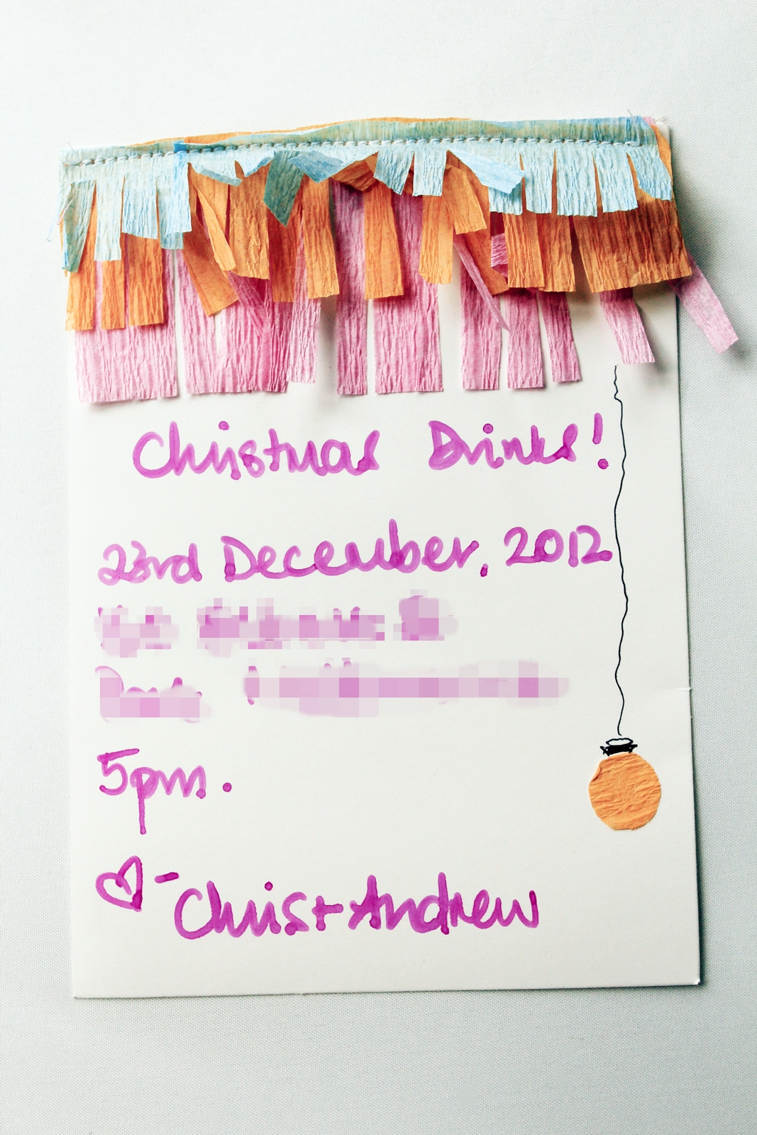Christmas drinks invitation