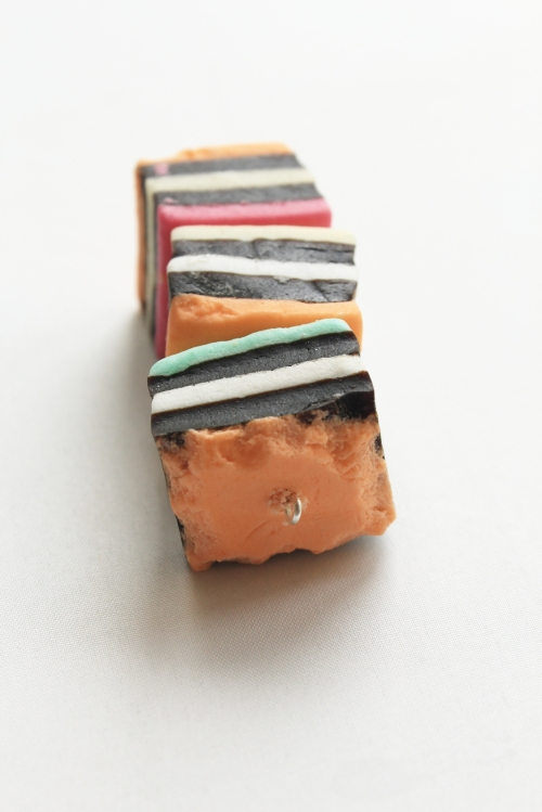Nibbled licorice decoration