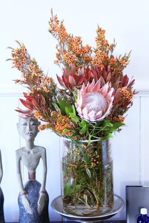 post-wreath arrangement
