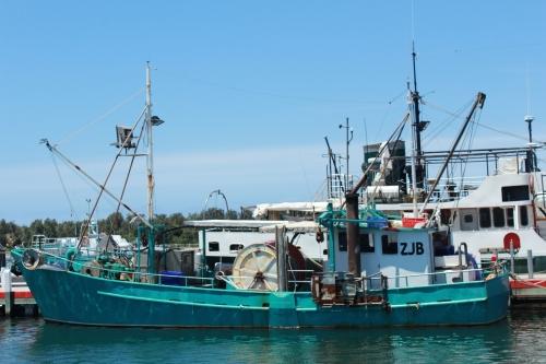 Lakes prawning boat