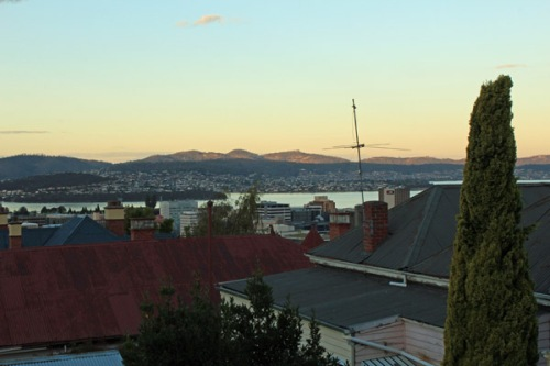 View from hill Hobart 2