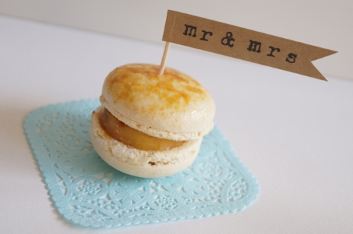mr & mrs cupcake flag by Miss Honey Joy