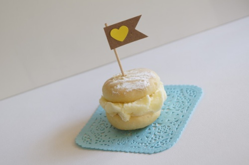 Yellow heart cupcake flags Miss Honey Joy