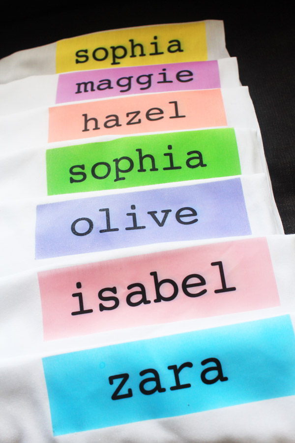 name pillowcases