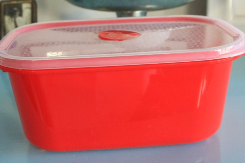 Tupperware container with a secret