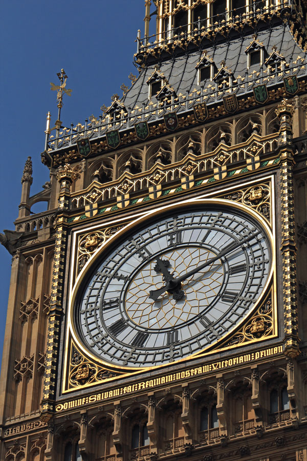 Big Ben clock face close up