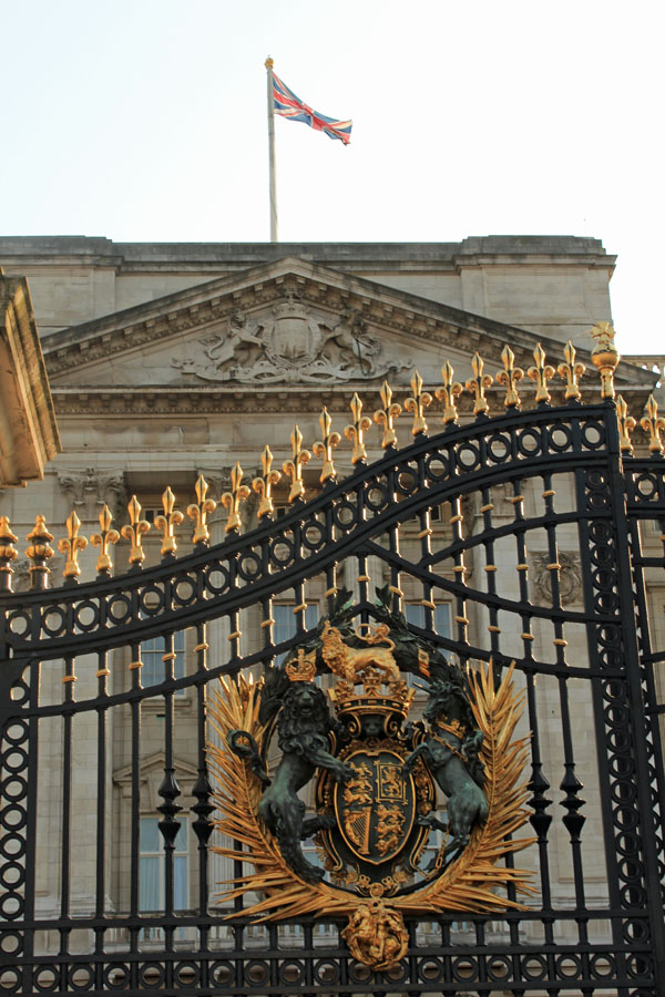 Buckingham Palace Coat of Arms and Union Jack