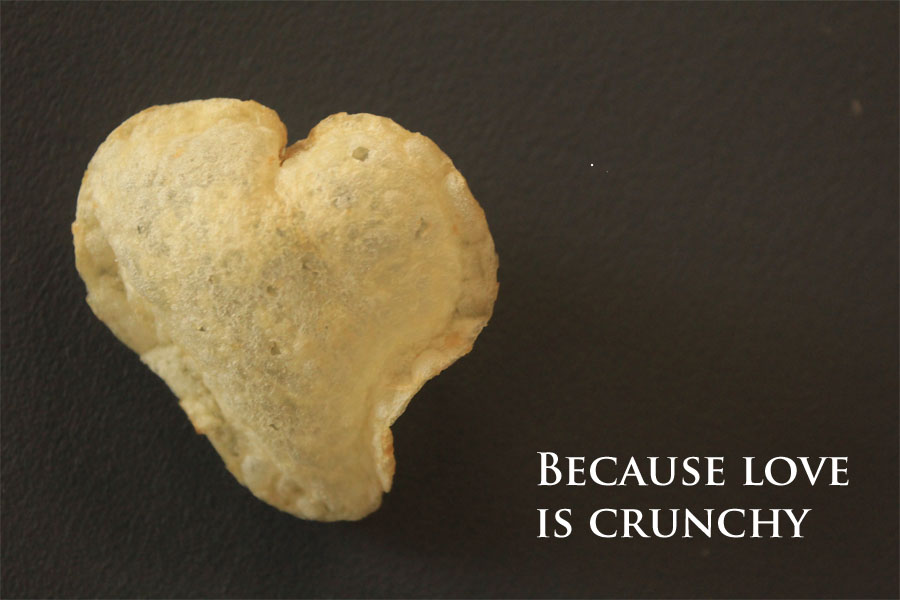 Love heart chip