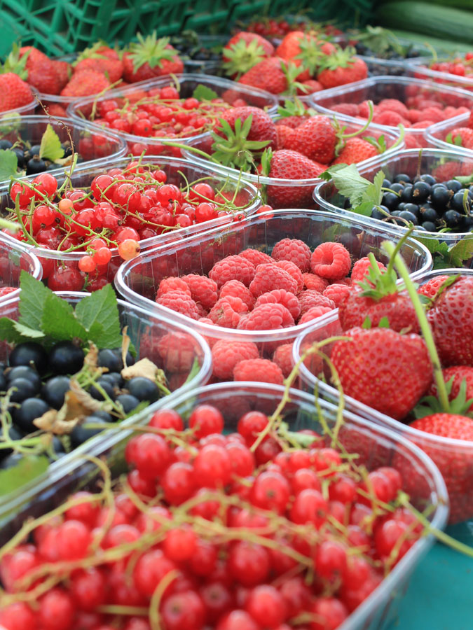 Summer berries Marlyebone Farmers' Market