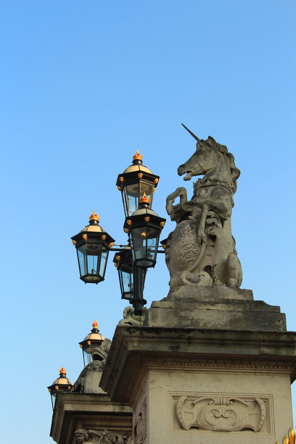 Unicorn on Buckingham Palace Gates