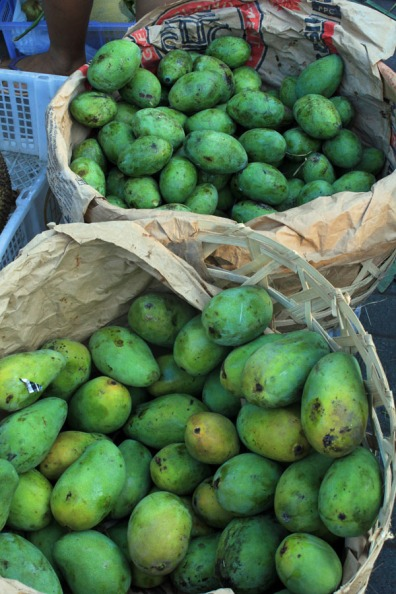 Green mangoes, Ubud market, Bali