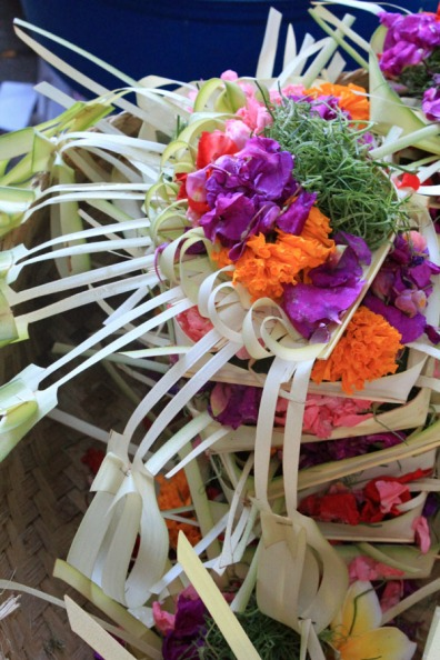 Ready-made offerings, Ubud market, Bali