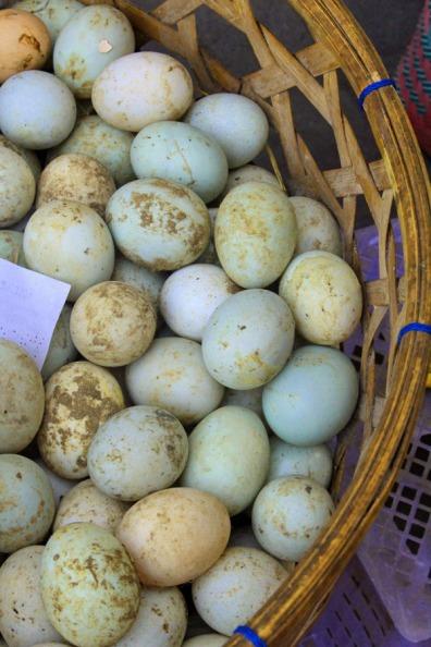 Duck eggs, Ubud market, Bali