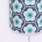 blue flower fabric lamp