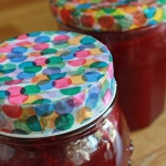 confetti washi tape jam jar lids