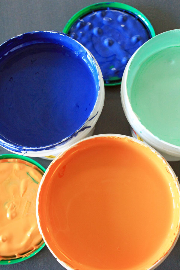 Eco colour paint pots