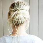 Plaited headband back view