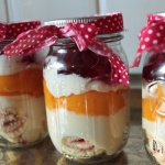 Trifle in mason jar