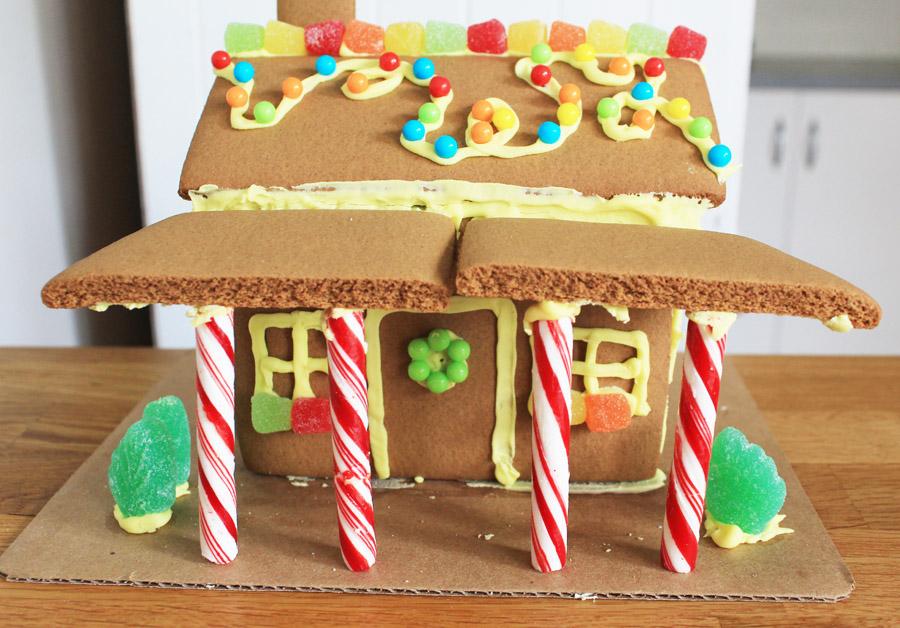 Christmas gingerbread shack