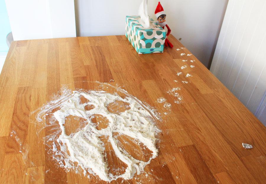 Elf on the shelf snow flour angel
