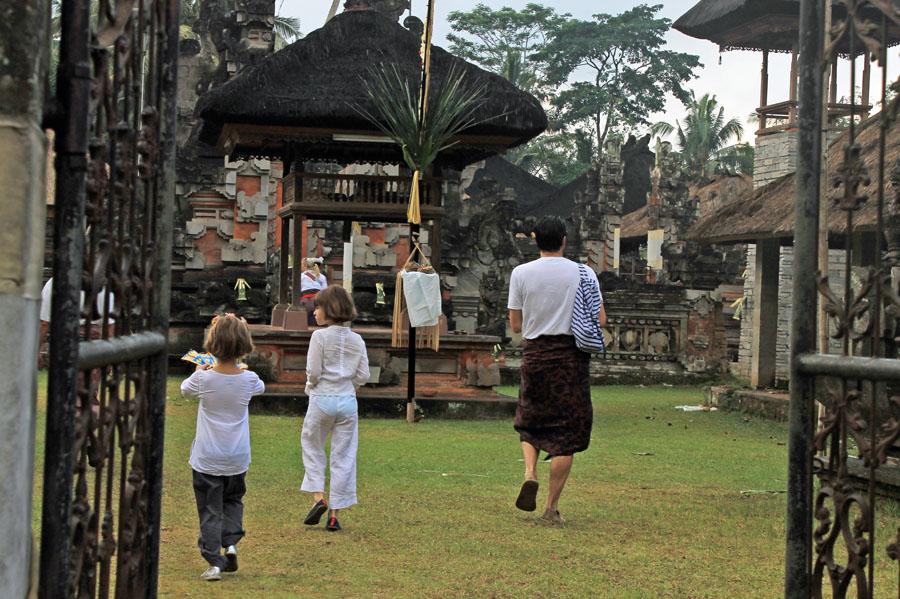 Entering the Sebali temple