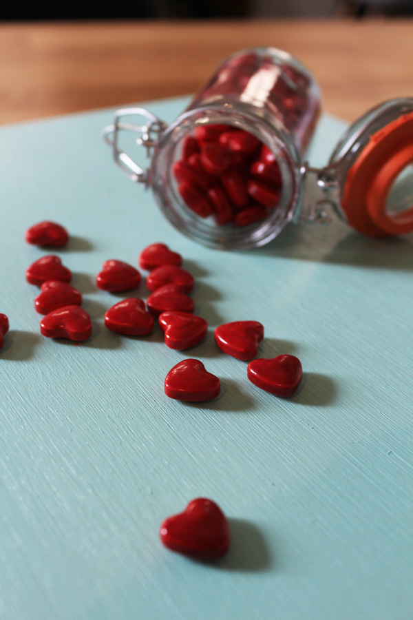 jar of hearts with hearts spilling out