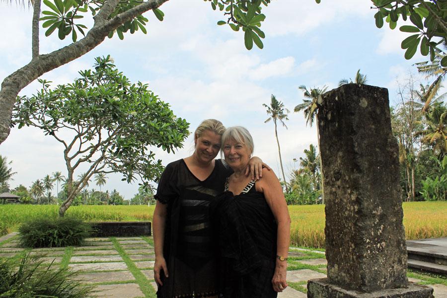 Mum and I outside Villa Vajra