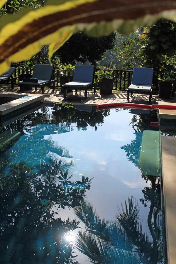 Pool reflections Villa Vajra
