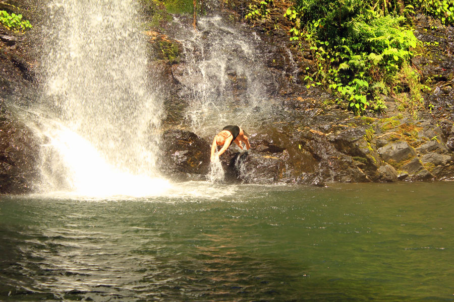 Diving into Cassowary Falls