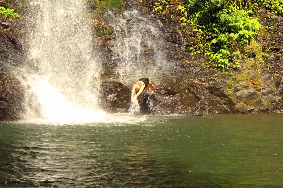 Diving into Cassowary Falls